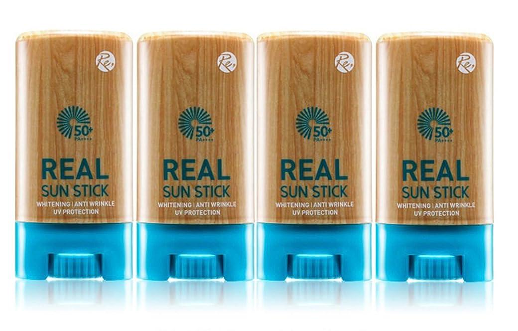 靄ほのめかす電極REONE リアル サンスティク20g PA++++UVA UVB 日焼け止め サンスクリーン 紫外線遮断 三機能性 透明肌 保護膜 4本セット 海外直送品 (Real Sun Stick 20g PA ++++ UVA UVB UV Protection Sunscreen Triple Function Transparent Skin Protection 4EA Set)