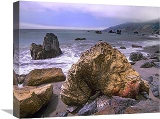 "Rocks on Kirk Creek Beach, Big Sur, California-Canvas Art-20""x16"""