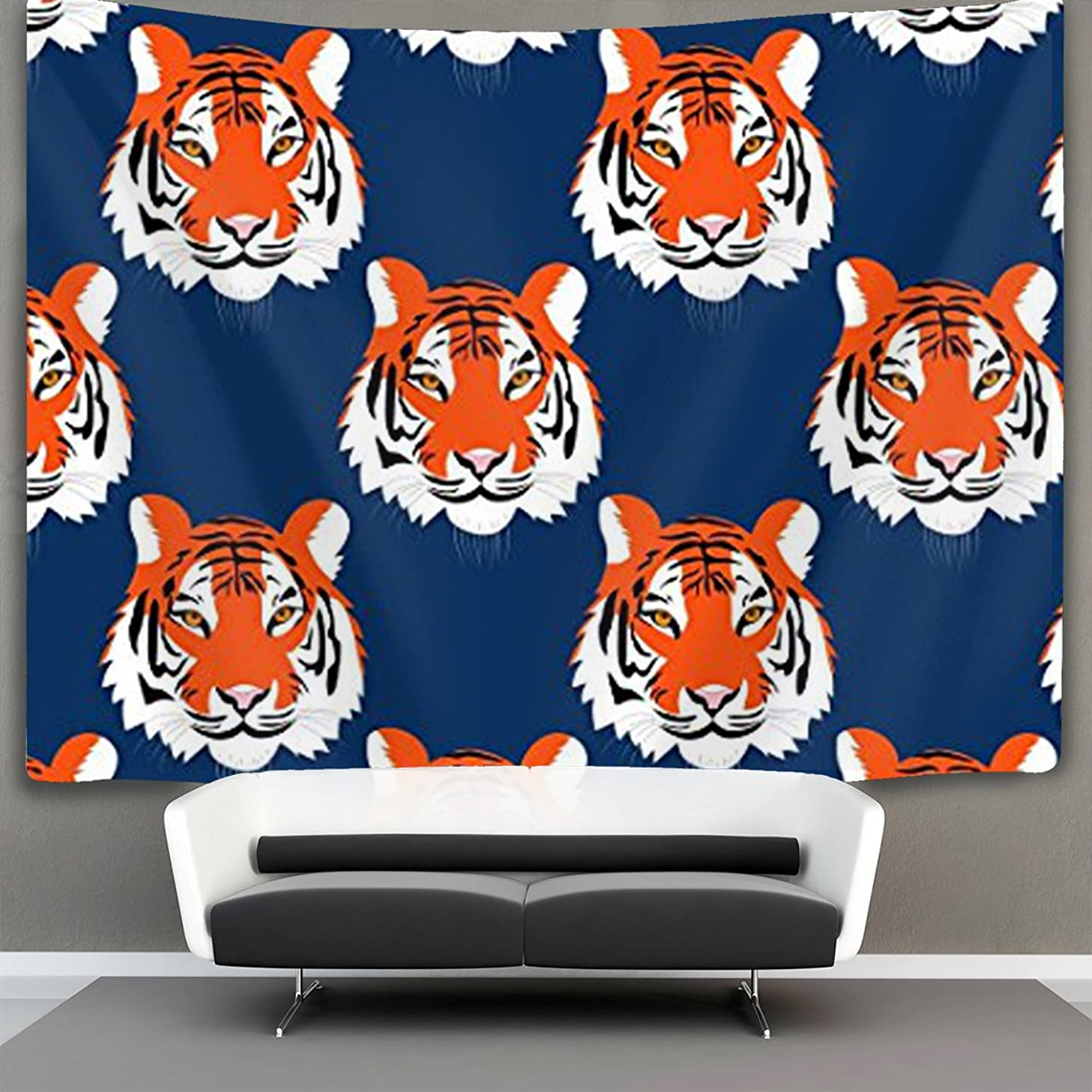 JACINTAN Jungle Tigers in Auburn Colors Wall Tapestry Hippie Art Tapestry Wall Hanging Home Decor Extra Large tablecloths 60x70 inches for Bedroom Living Room Dorm Room
