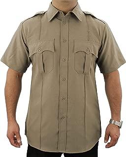 100% Polyester Short Sleeve Zippered Uniform Shirt