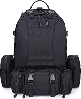 G4Free Large 60L Tactical Molle Backpack with 3 MOLLE Bag