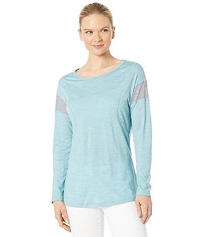 Smartwool Merino Sport 150 Long Sleeve (Wave Blue Heather) Women