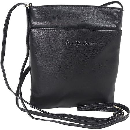 Kleine Jennifer Jones Taschen Damen 100% Leder Damentasche Handtasche Schultertasche Umhängetasche Tasche klein Crossbody Bag (6124)