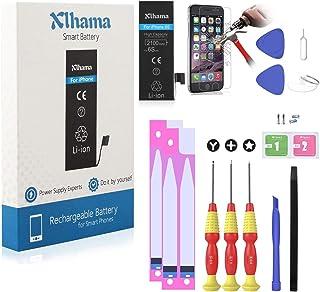 Xlhama Batería Alta Capacidad compatible para iPhone 6S Li-ion 2100mAh con Juegos de Herramientas de Reparación, Instrucciones y Protector de Pantalla,La Garantía de 24 Meses, La producción de 2019