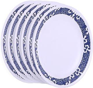 Corelle Mavi ES Glass Medium Plate Set, 21.6cm, Set of 6, White