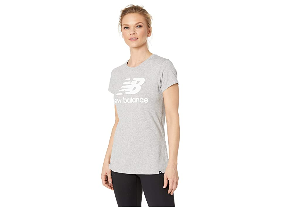 New Balance Essentials Logo Tee (Athletic Grey 1) Women