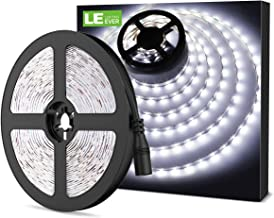 LE Tira LED, Cadena de Luces, 5m 300 LED SMD 2835, Blanco Frío No Impermeable 6000K para Techo, Escaparate, Muebles, etc.