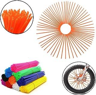 Orange Yibid Dirt Bike Street Bicycle 72PCS Universal Wheel Rim Spoke Skins Covers Wrap Decor Straws Coats Protector Kit for 8-21 rims Motorcycle MX500 KTM KX125 KX250 CR450 Guard