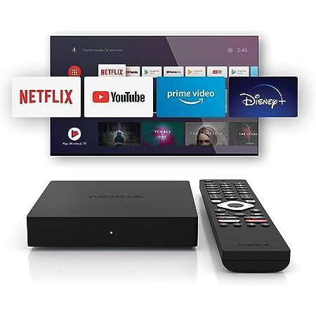Nokia Streaming Box 8000, Android TV (Chromecast, HDMI, Netflix, Prime Video, Disney+)