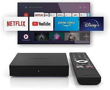 Oferta amazon: Nokia TV Box Android 4k uhd, Netflix, Amazon Prime, Disney+, asistente de google, smart tv box con Android 10 y Chromecast integrado, WiFi, HDMI, incluye mando a distancia Bluetooth