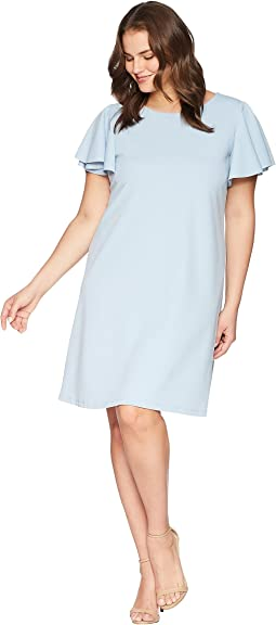 Plus Size Mina Ruffle Sleeve Dress