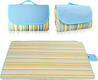 KALIM Soft and Cozy Picnic Mat Padded, Portable Waterproof Beach Blanket, Water-Resistant Outdoor Blanket, Suitable for Camping, Sand Beach and Other Outdoor Activities