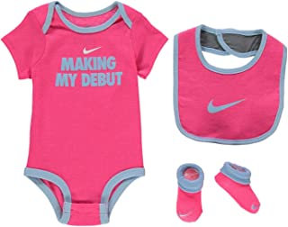 b7539c79 Nike Age 6-12 Months Baby Girls 3 Piece Infant Bib Romper Booties Set Shoes