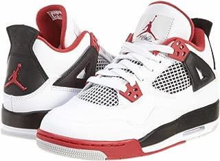 NIKE Air Jordan 4 Retro GS Fire Red 2012 Youth Kids White Black AJ4 408452-110