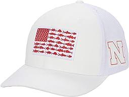 Nebraska Cornhuskers PFG Mesh™ Fish Flag Ball Cap