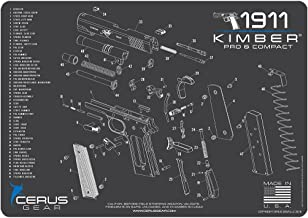 Cerus Gear Kimber Compact & Pro Schematic Promat, Charcoal Gray