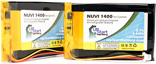 2x Pack - Garmin Nuvi 1450 Battery Replacement (1200mAh, 3.7V, Lithium Polymer) - Compatible with Garmin Nuvi 1490, 1450, 1490, Nuvi 1490T, 1490T, Nuvi 1400, Nuvi 1450T, 1400, 1450T, 1490TV, 1460, Nuvi 1490TV, Nuvi 1460, ED38BD4251U20, Nuvi 1490T Pro, 1490T Pro