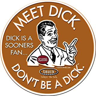 Texas Longhorns Fans. Don't Be A Dick. Embossed Metal Man Cave Sign