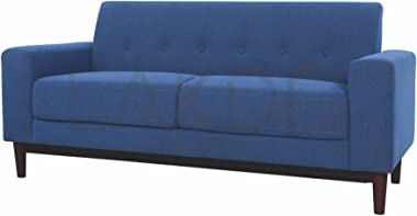 Lakdi-The Furniture Co. Blue Latest Fully Cushioned Three Seater Sofa with Solid Wooden Legs, Ideal for - Home & Office