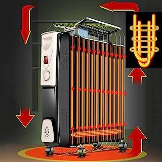 HKDJ-600-1500W Radiador De Aceite con Corte De Seguridad Térmica Y Protección contra Sobrecalentamiento,3 Configuraciones De Energía Y Temperatura Ajustable para Calentador De Oficina En Casa