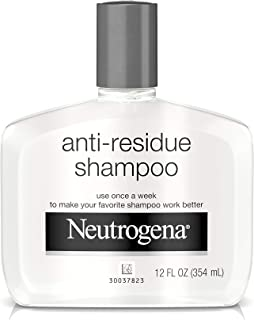 Neutrogena Anti-Residue Clarifying Shampoo, Gentle Non-Irritating Clarifying Shampoo to Remove Hair Build-Up & Residue, 12...