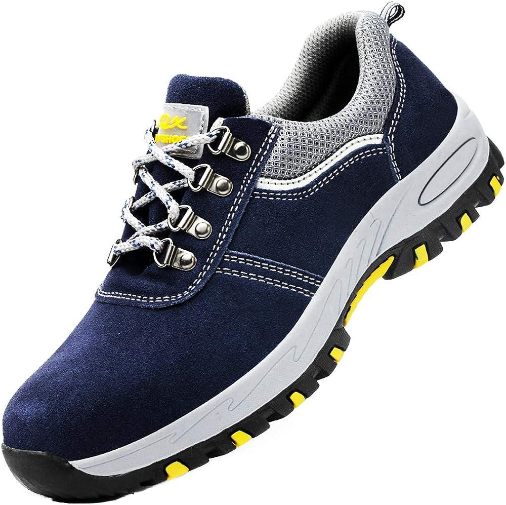 Dogeek scarpe antinfortunistiche da lavoro unisex con puntale in acciaio blu