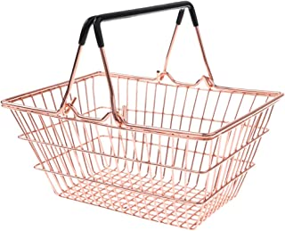 Kids Mini Metal Supermarket Shopping Basket for Kitchen Fruit Vegetable Food Grocery Storage Pretend Play Tools Toy Gifts