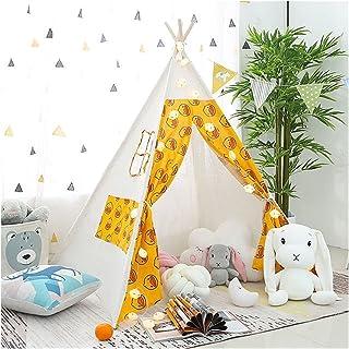 YSJJWDV Teepee tält 1,3 m barntält lekhus bärbar peruk för barn inomhus baby indisk Tipi utomhus campingtält flicka prinse...