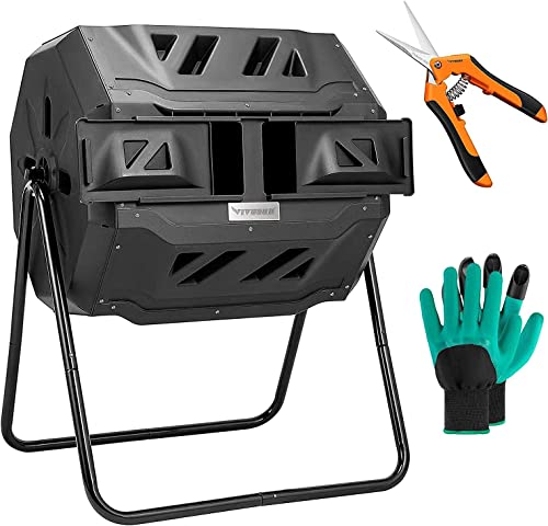 wholesale VIVOSUN outlet sale Dual Rotating Batch Compost Bin 2021 with 6.5 Inch Gardening Hand Pruner Pruning Shear online