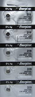5 Pack of Silver Oxide Energizer 319 Button Cell Watch Batteries