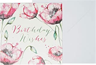 J&G Greeting Cards Birthday Wishes Card - Multi Color