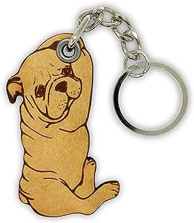 ForLeatherMore - Bulldog Shape - Genuine Leather Keychain