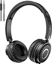 Headphones with Microphone, Vogek Lightweight Foldable on Ear Headset for Kids Teens..