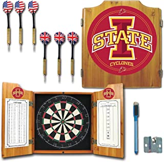 NCAA Iowa State University Wood Dart Cabinet Set