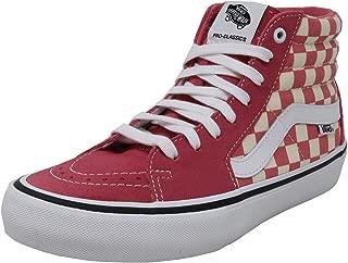Men/Women Shoes SK8-Hi Pro Classic Checkerboard Pink Skateboard Sneakers