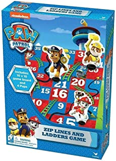 Nickelodeon Paw Patrol Zip Lines and Ladders Game, 2-4 Players
