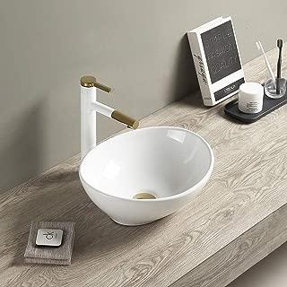 Lalasani Modern Egg Shape Above Counter Ceramic Bathroom Vanity Bowl oval vessel sinks
