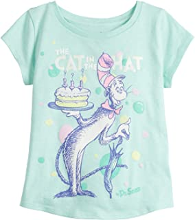 Jumping Beans Toddler Girls Dr Seuss Cat in The Hat Birthday SS Tee