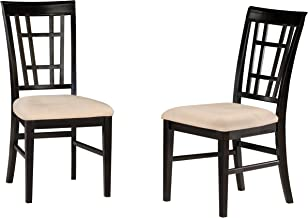 Atlantic Furniture - Montego Bay Dining Chairs with Oatmeal Seat Cushions in Espresso (Set of 2)