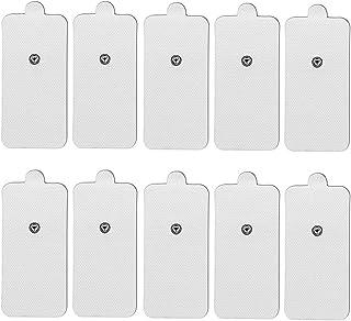 TENS Electroestimulador Almohadillas Electrodos para electrodo Pads Almohadillas Conexión De Botón 3,5mm TENS Electrodos 50x100mm Parches para TENS Digital Terapia Máquina Massager (10*pieces)