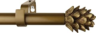 Urbanest 3/4-inch Pinecone Adjustable Curtain Rod, 48-inch to 84-inch, Renaissance Gold