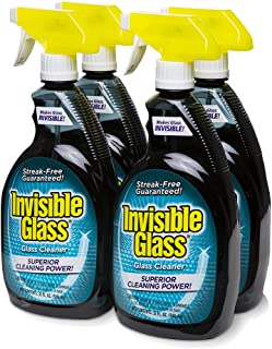 Invisible Glass 92194-4PK 32 oz. - Cleaner and Window Spray for Home and Auto for a Streak-Free Shine. Film-Free Glass Cleaner Safe for Tined and Non-Tinted Windows. Windshield Film Remover, Set of 4