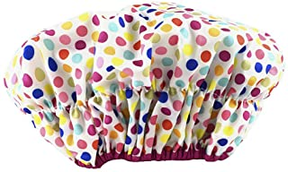 Betty Dain Fashionista Collection Mold Resistant Lined Shower Cap, Deco Dots