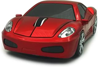 Wireless Car Mouse, TDRTECH 2.4GHz Optical Gaming Mouse Cool Sport Car Wireless Mouse, DPI 1600, 3D - Red