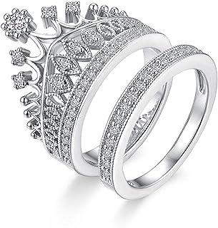 84f3b444b6 University Trendz Silver Metal Queen Crown Pattern Ring for Women (9.0)