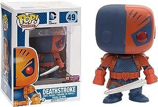 Funko Deathstroke (PX Exclusive): DC Universe x POP! Heroes Vinyl Figure & 1 POP! Compatible PET Plastic Graphical Protector Bundle [#049 / 04159 - B]