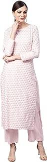 Idalia Baby Pink Printed Kurta Set