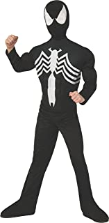 Rubie's Marvel Ultimate Spider-Man/Venom Deluxe Muscle Chest Black Costume Small 880601_S