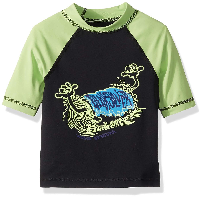 Quiksilver Children (youths) Bubble Dreams Short Sleeve Boy Jade Lime Surfing Rashguard Size 6