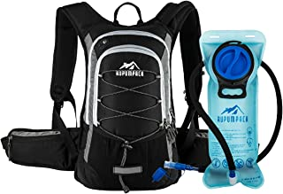 Insulated Hydration Backpack Pack with BPA Free 2L Water Bladder - Keeps Liquid Cool Up to 4 Hours, Fit Outdoor Gear for Hiking, Running, Cycling, Camping, Skiing, 15L